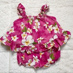 Pacific legend pink Hawaiian dress